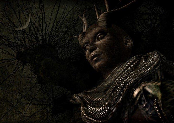 demonio en la oscuridad