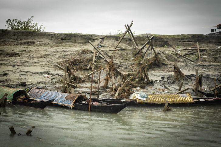 Inundaciones en el rio brahmaputra
