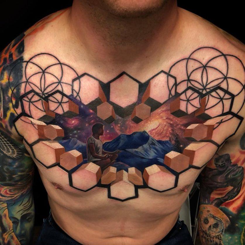 jesse rix tatuajes ilusion optica (2)