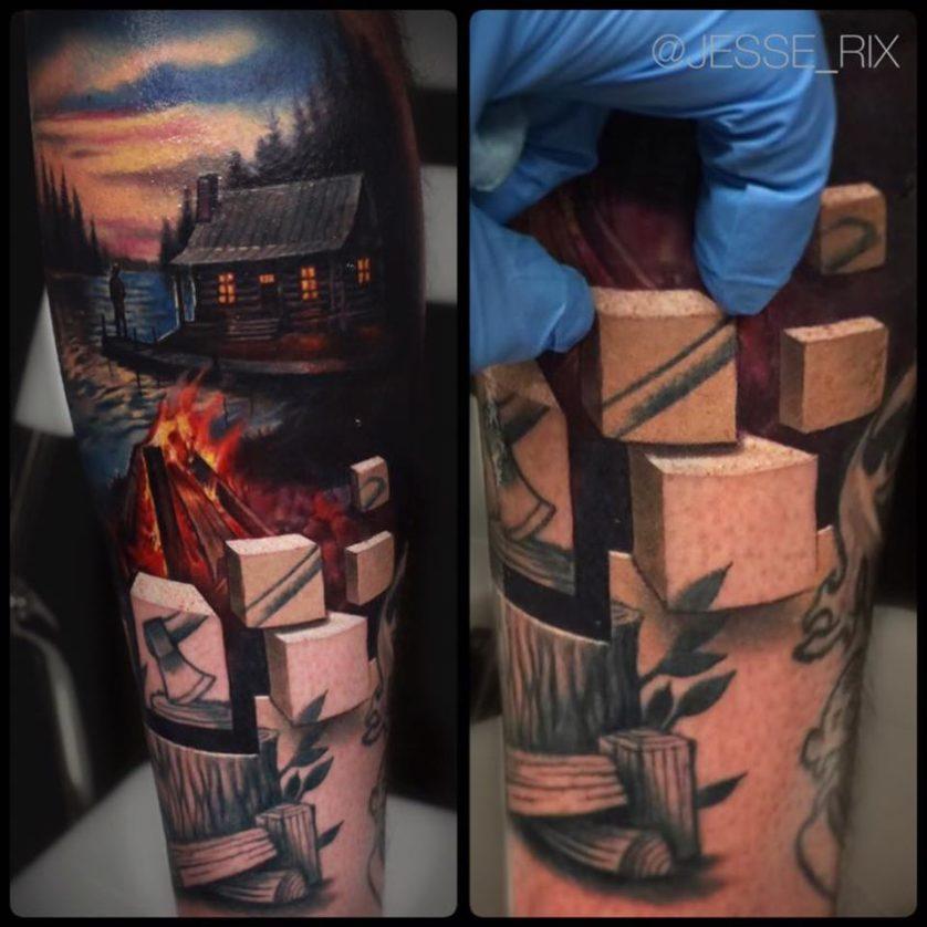 jesse rix tatuajes ilusion optica (6)