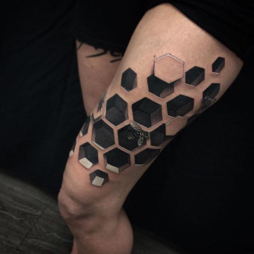 jesse rix tatuajes ilusion optica (7)