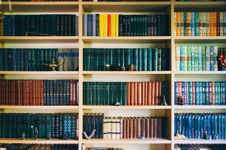 libros ordenados por color