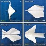 Base de datos con diseños de aviones de papel: horas de diversión para pequeños y grandes