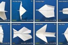 Modelos aviones de papel