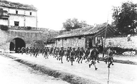 Waping tropas chinas