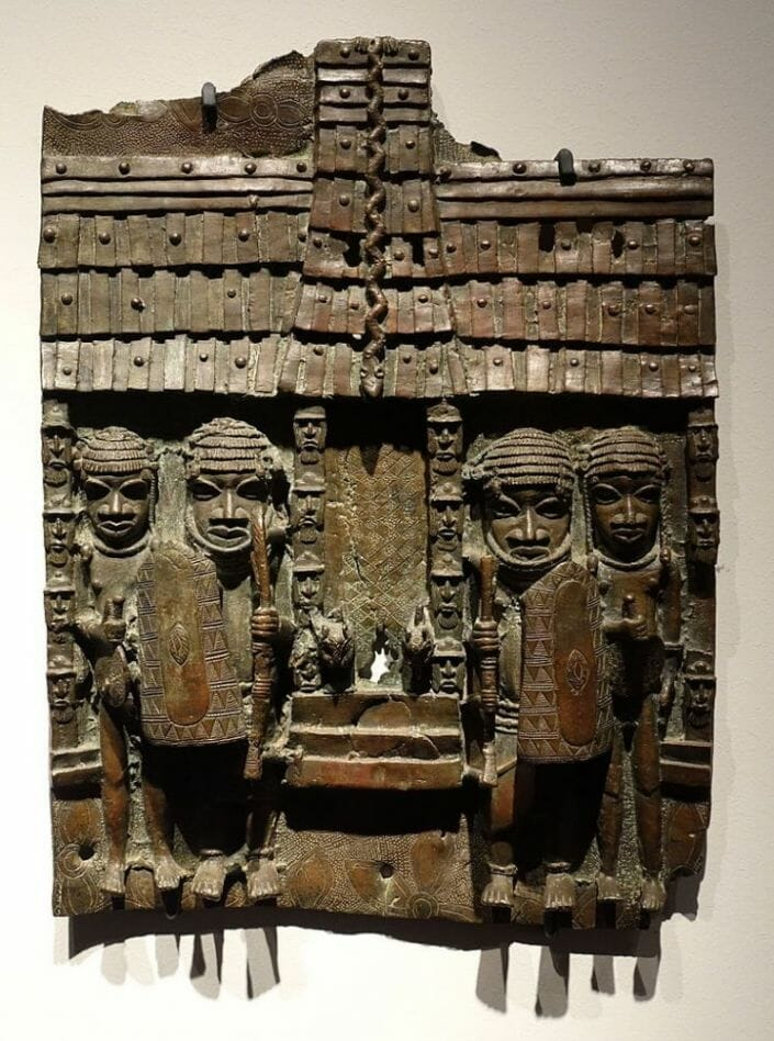 Benin plaque in the Ethnological Museum Berlim