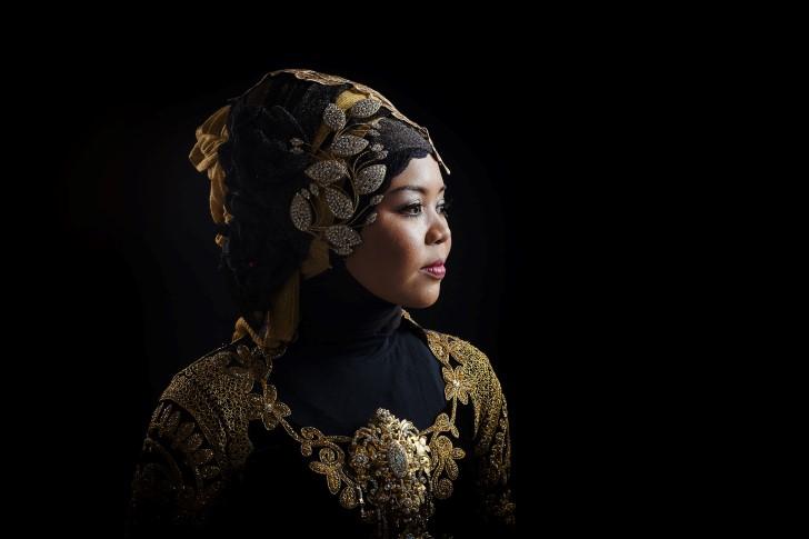 Mujer bella de indonesia