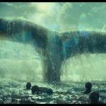 naufragos frente a la cola de una ballena