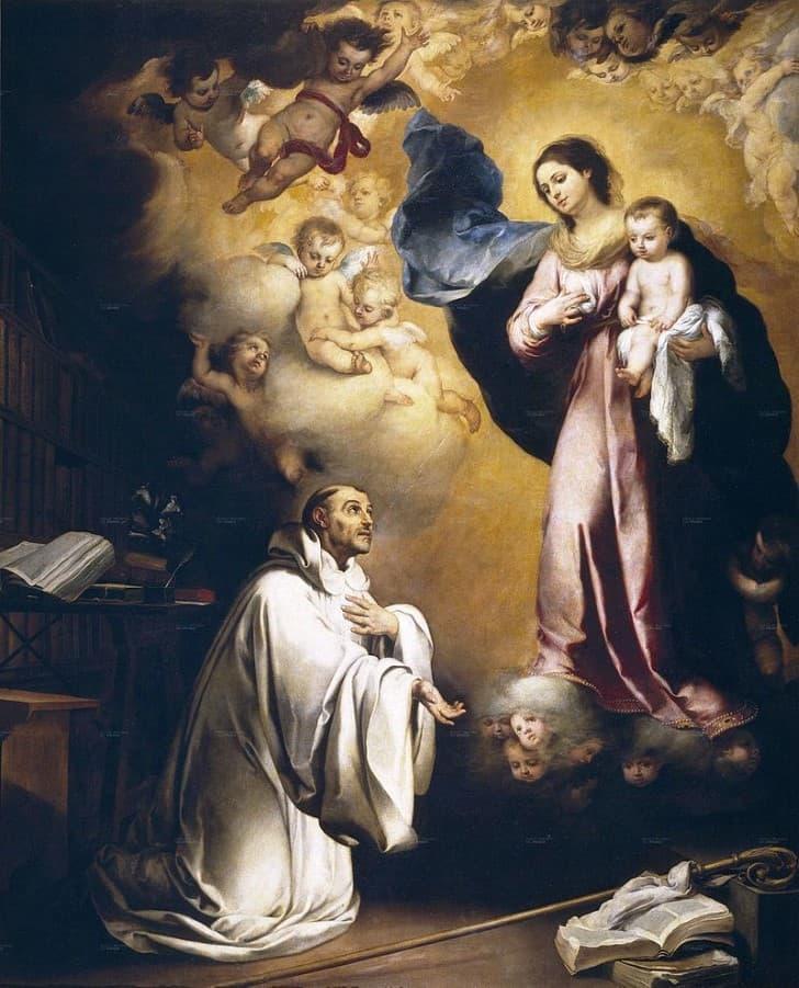 Aparición de la Virgen a San Bernardo, de Bartolomé Esteban Murillo, 1655