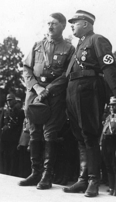 Ernst Röhm y Hitler
