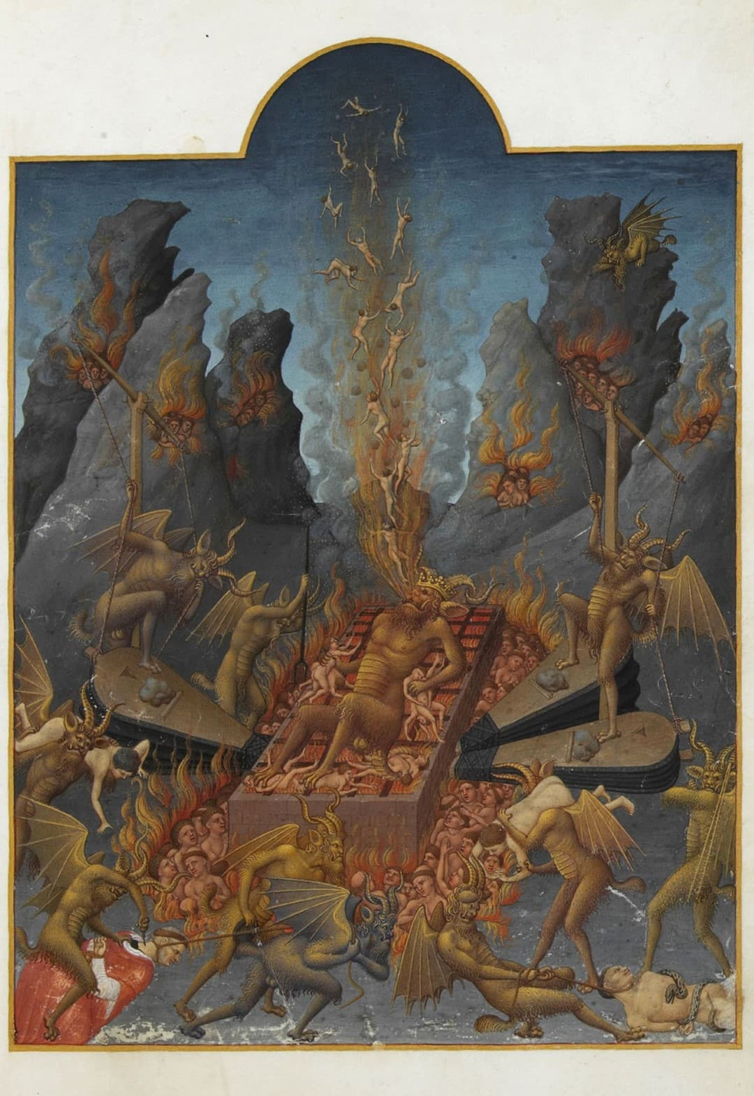 Les Très Riches Heures du Duc de Berry Folio 108r Hell