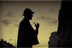 Sherlock Holmes silueta