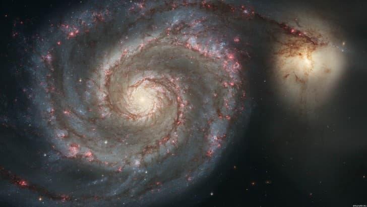 colision entre dos galaxias