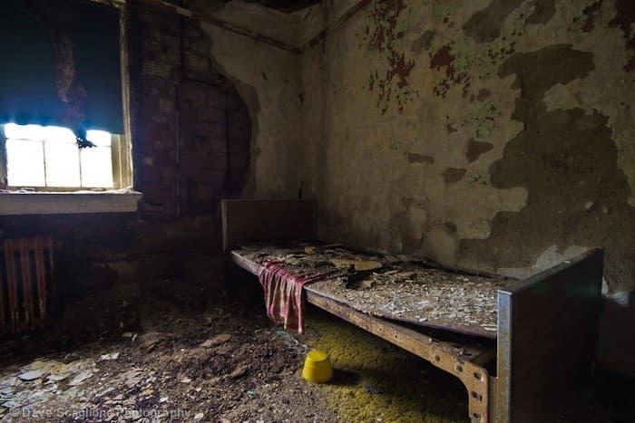 habitaciones del Trenton Psychiatric Hospital