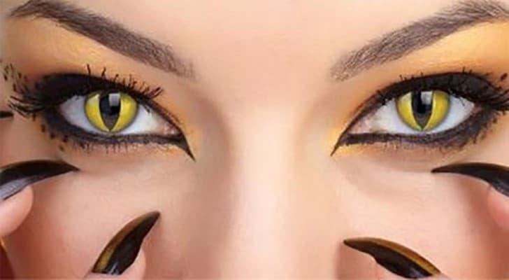 ojos de gato lentes de contacto