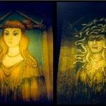 pintura del terror mansion