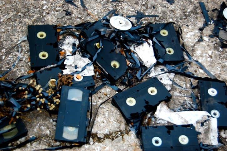 cintas vhs destruidas