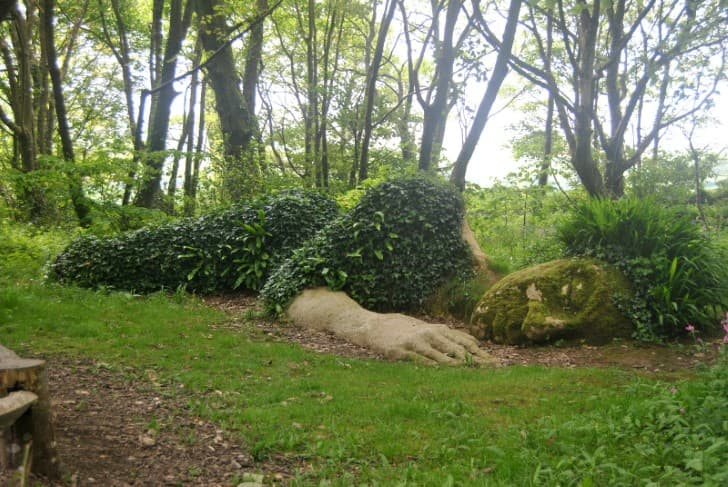 dormir naturaleza escultura verde