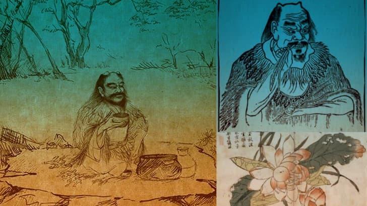 emperador Shennong tomando cafe