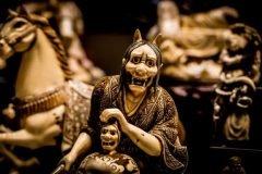 esculturas periodo edo representacion de demonios