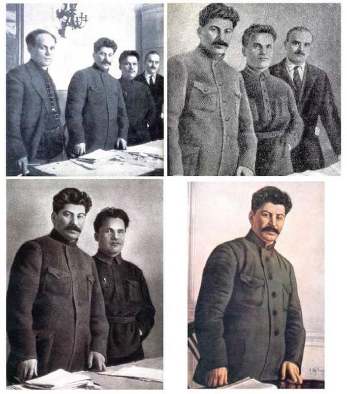 fotografias manipuladas stalin