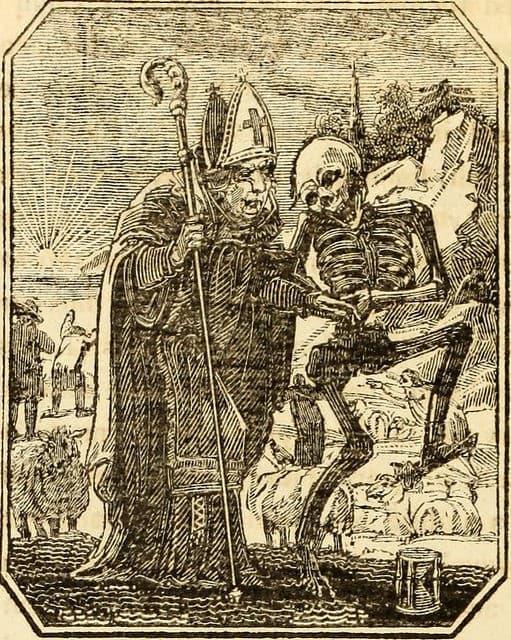 la muerte y un cardenal