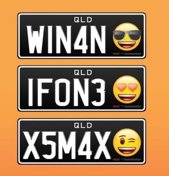 placas con emojis australia
