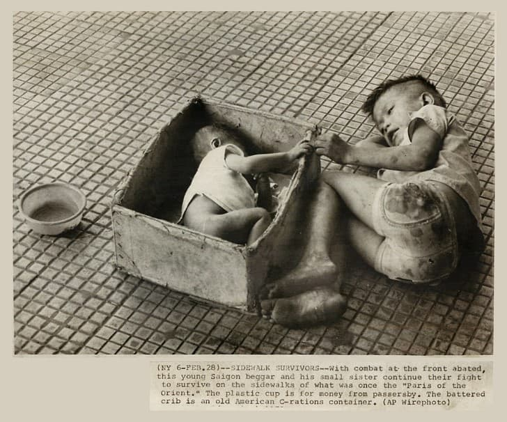 sobrevivientes niños huerfanos en vietnam