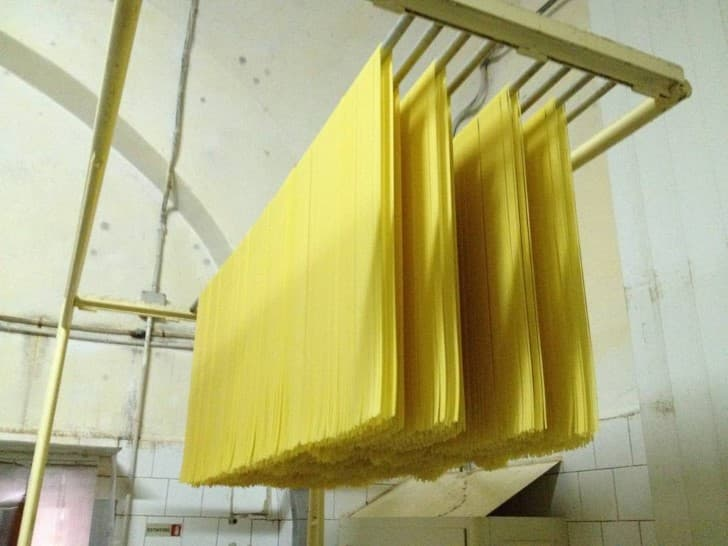 espagueti secandose