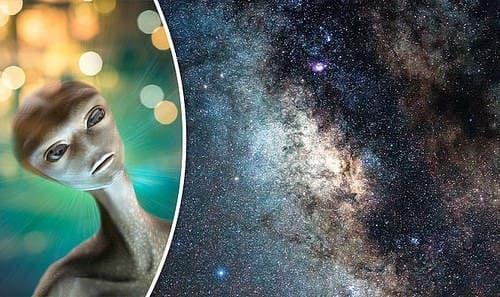 extraterrestre observando el universo