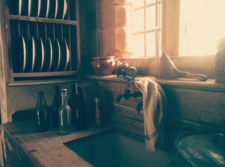 limpion en el lavatrastres