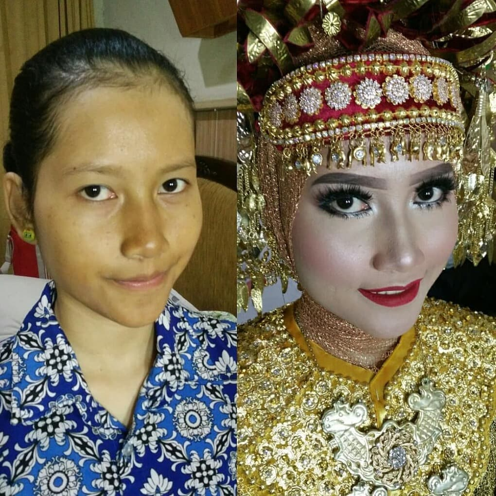 novias indonesia antes despues maquillaje (17)