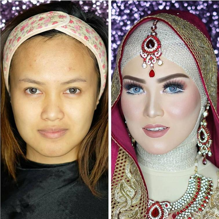 novias indonesia antes despues maquillaje (2)
