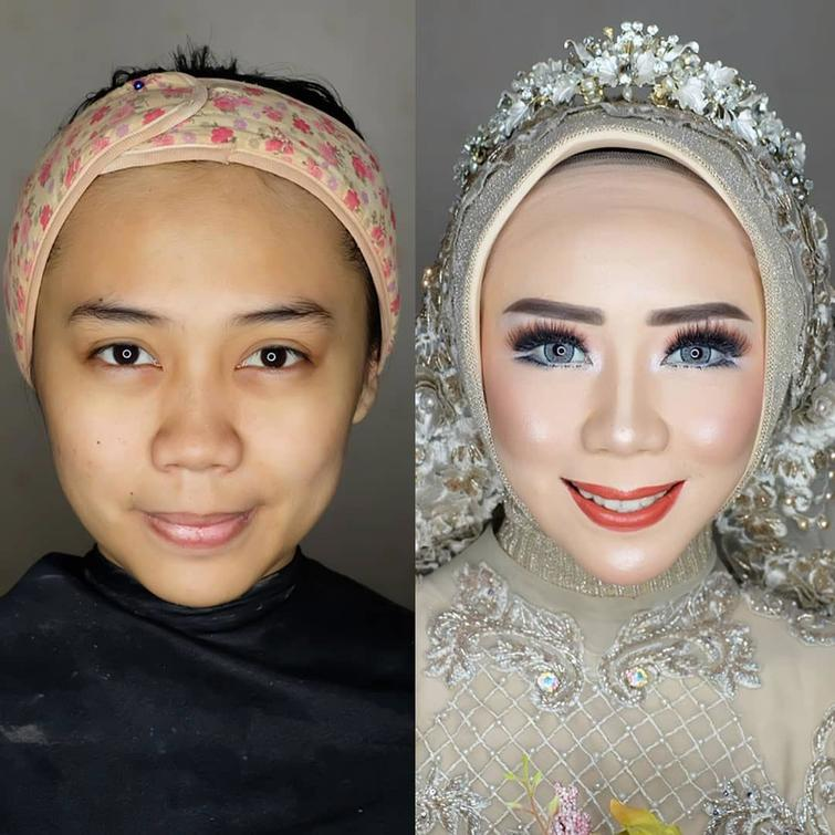 novias indonesia antes despues maquillaje (3)