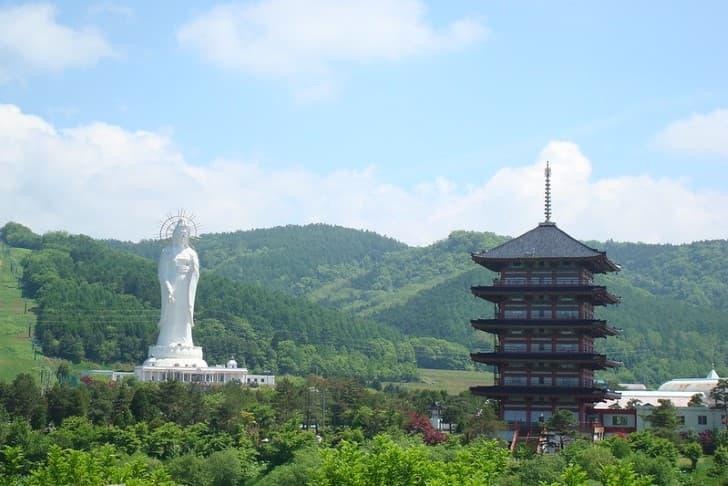 Dai Kannon of Kita no Miyako park