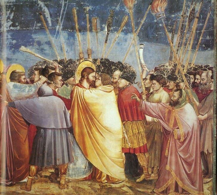 el beso de judas a jesus Giotto di Bondone