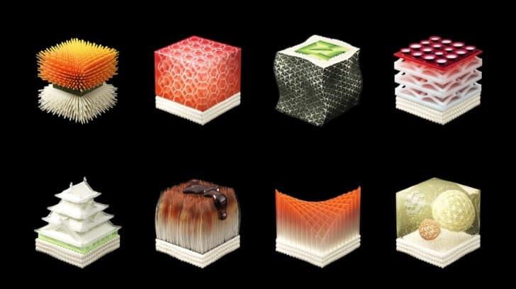 sushi impreso en 3D