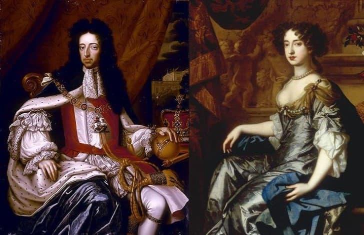 Guillermo III y Maria II de Inglaterra