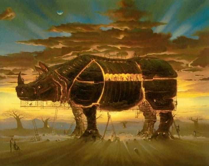 caballo de trolla Vladimir Kush