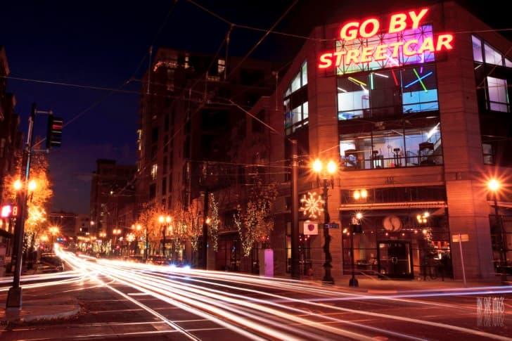 ciudad trafico luces autos