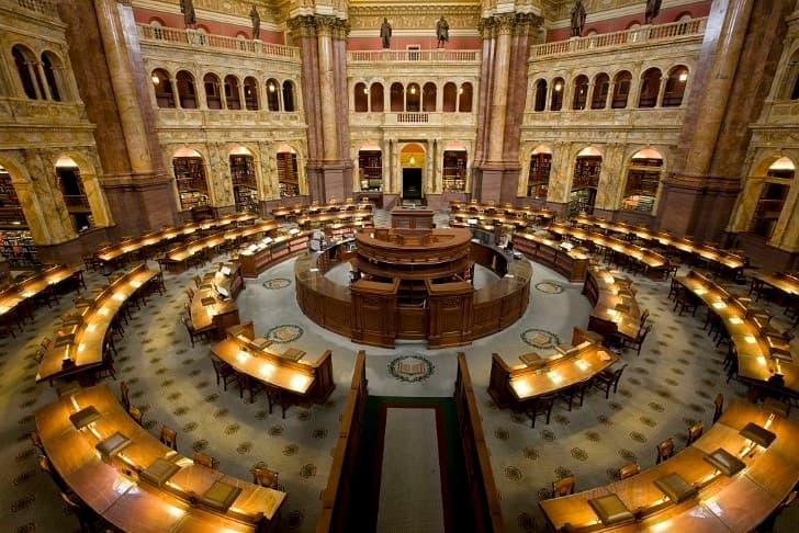 cuarto de lectura Biblioteca del Congreso