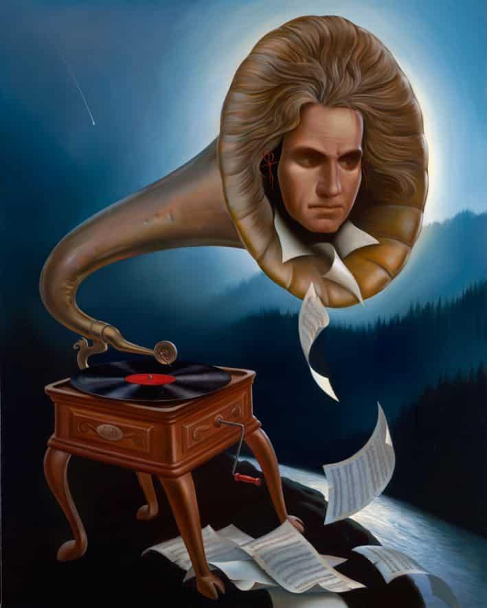 el espiritu de de Beethoven Vladimir Kush