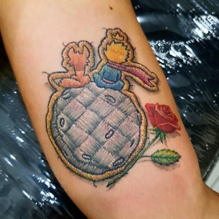 el principito tatuaje estilo bordado (15)