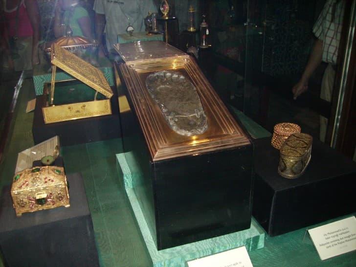 huella de Mahoma en el palacio Topkapi