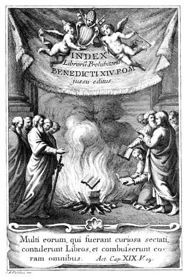 libros prohibidos quema de libros