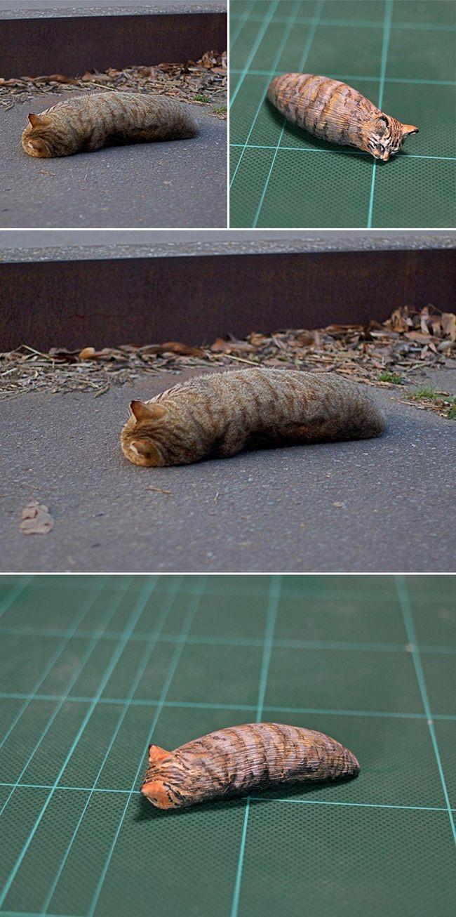 memes animales esculturas miniaturas (17)