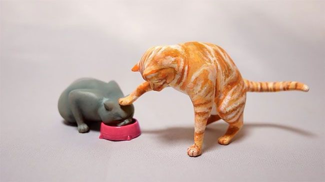 memes animales esculturas miniaturas (5)