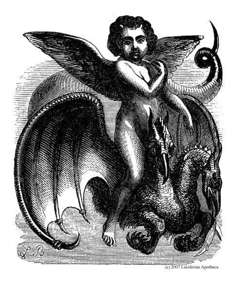 valak montando un dragon ilustracion