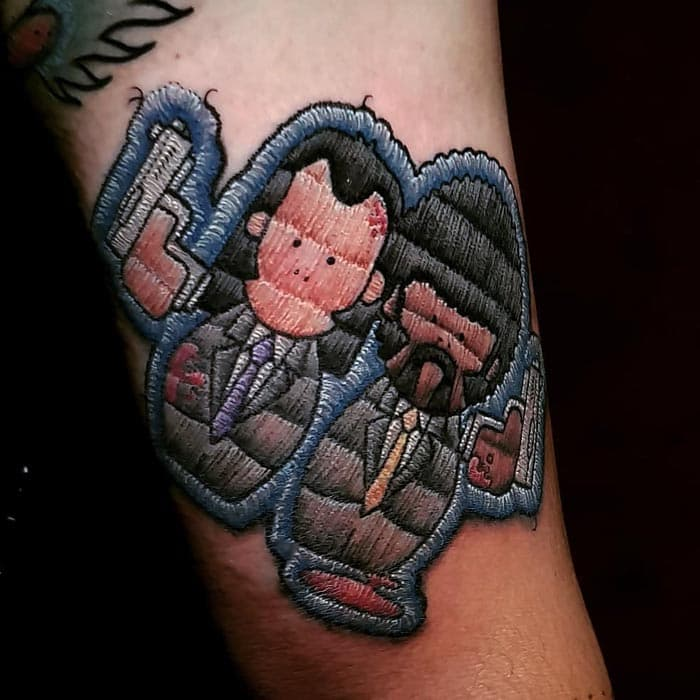 vicent jules pulp fiction tatuaje estilo bordado (7)