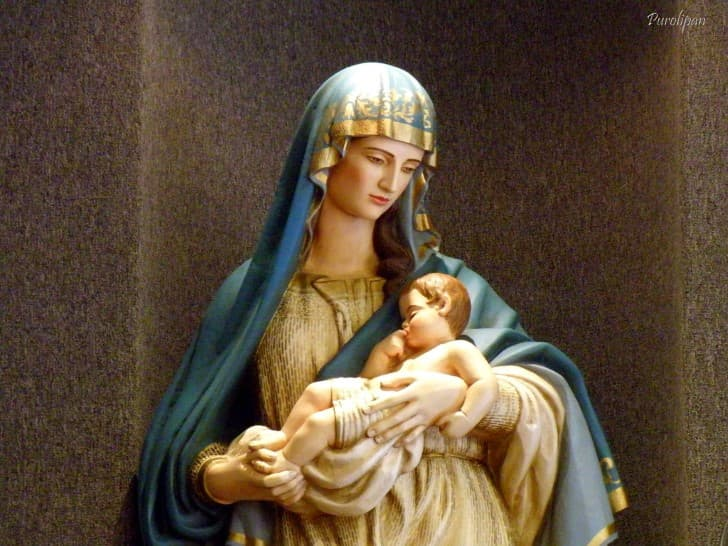virgen maria con niño dios